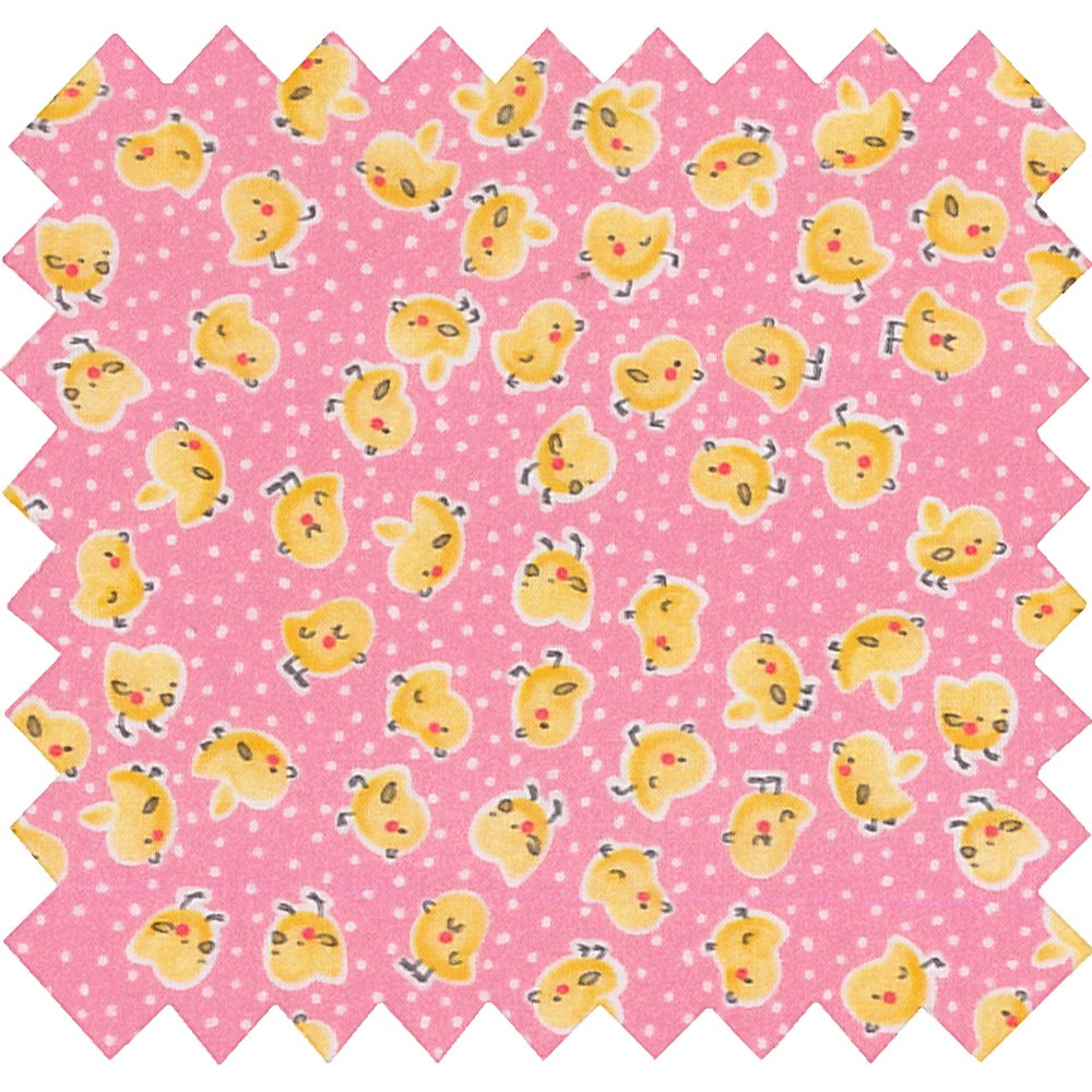 Cotton fabric exd poussin rose