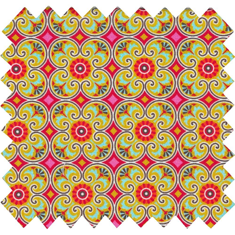 Tissu coton fleurs pop