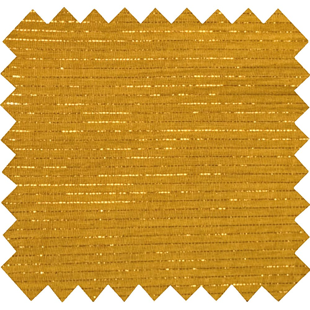 Cotton fabric lurex ocher gauze