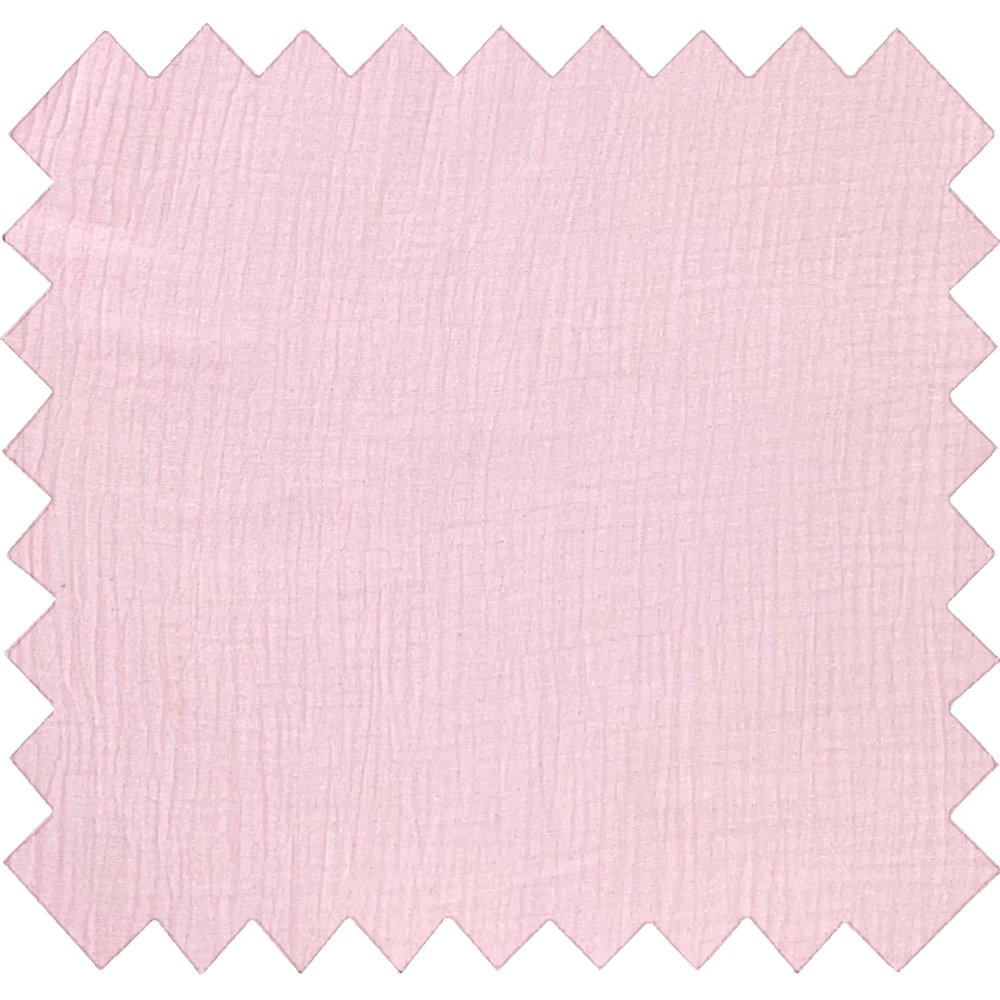 Cotton fabric pale pink gauze