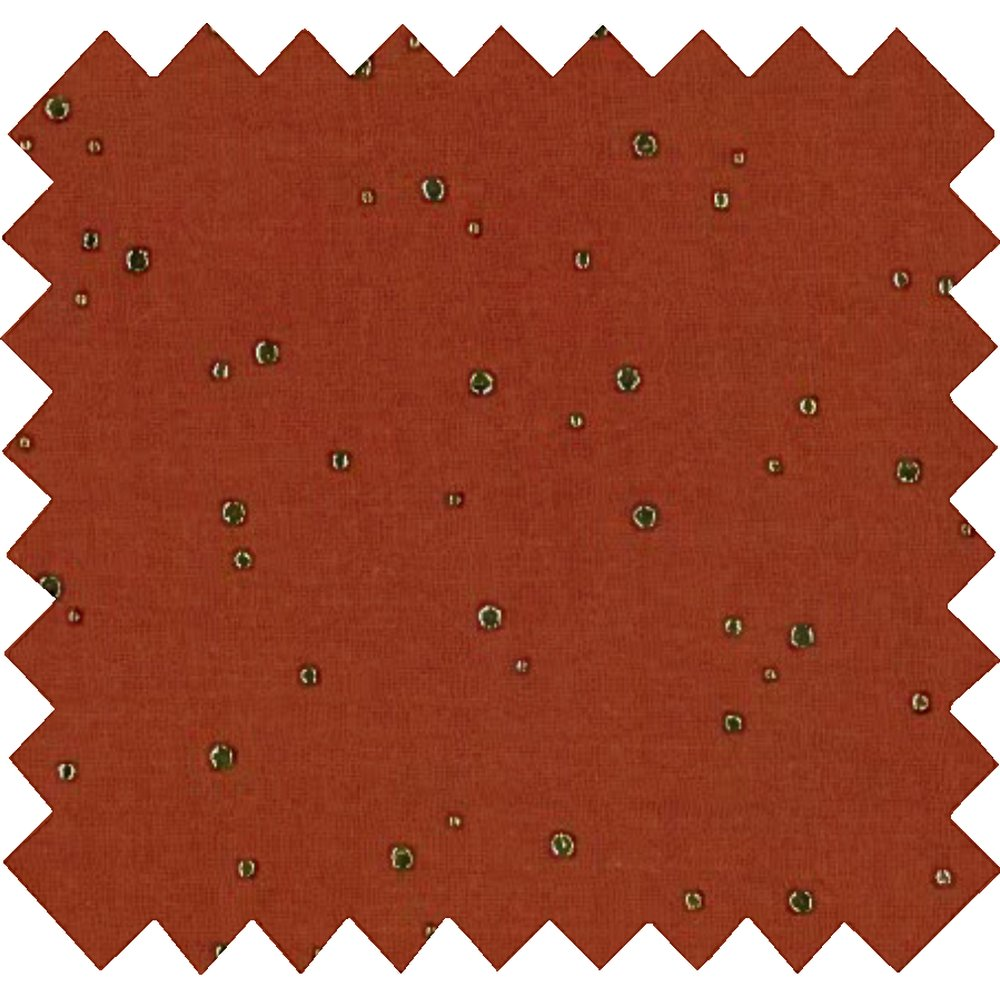 Cotton fabric gauze terra cotta