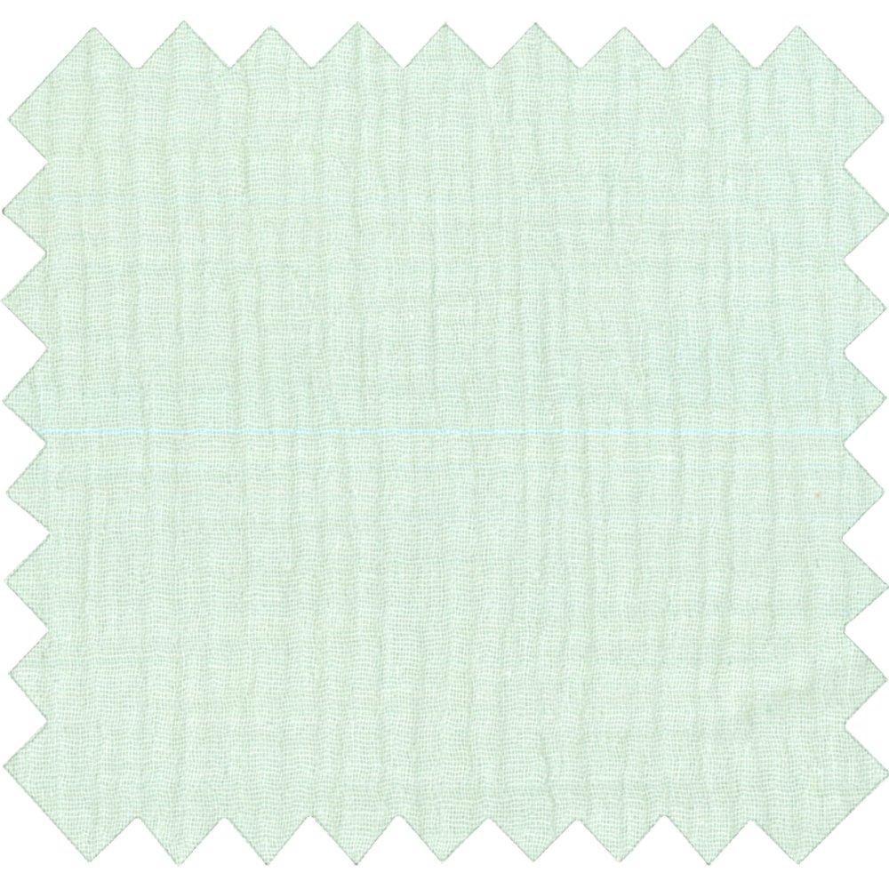 Cotton fabric gaze vert d'eau