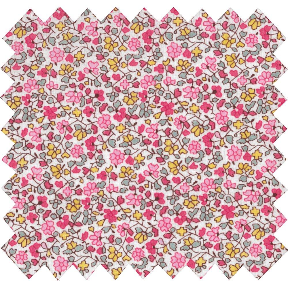 Cotton fabric pink jasmine