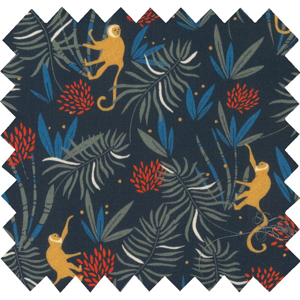 Cotton fabric jungle party