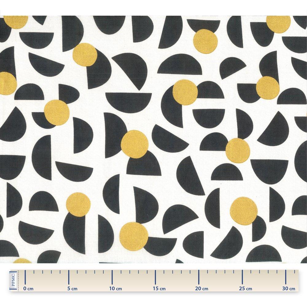 Tissu coton lune d'or