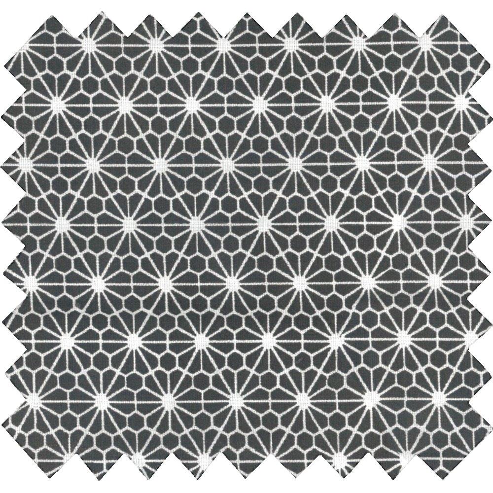 Cotton fabric octogone noir ex1003