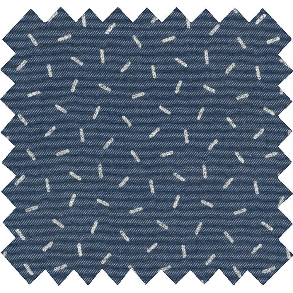 Tissu coton paille argent jean