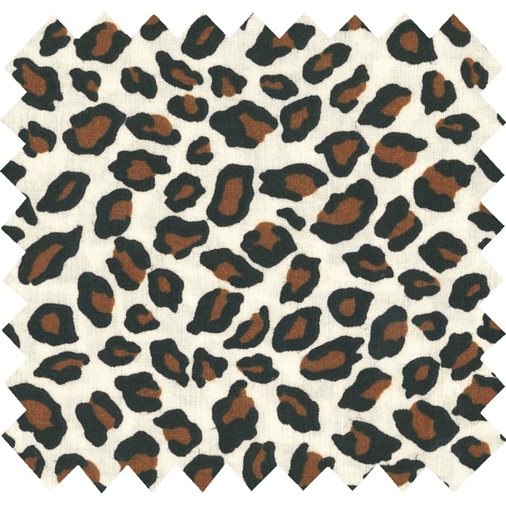 Cotton fabric leopard print