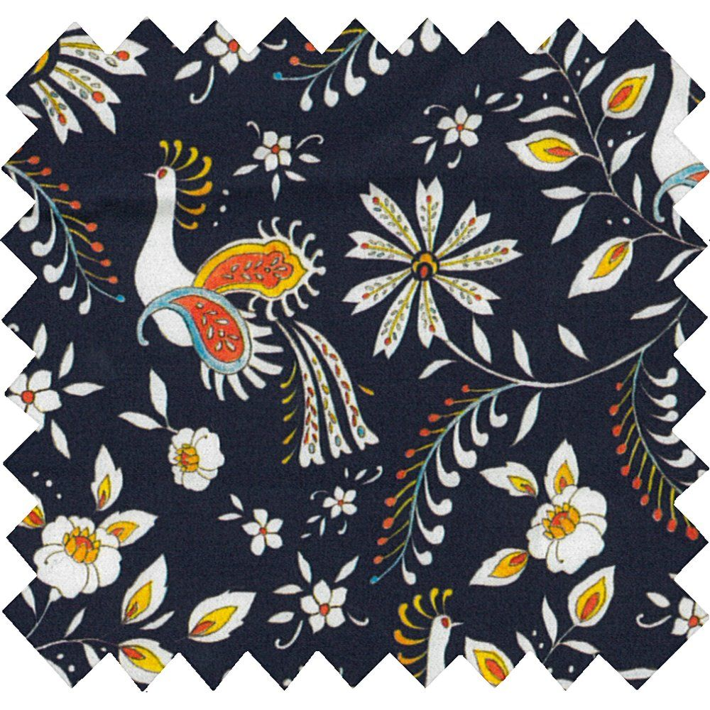 Cotton fabric lyrebird