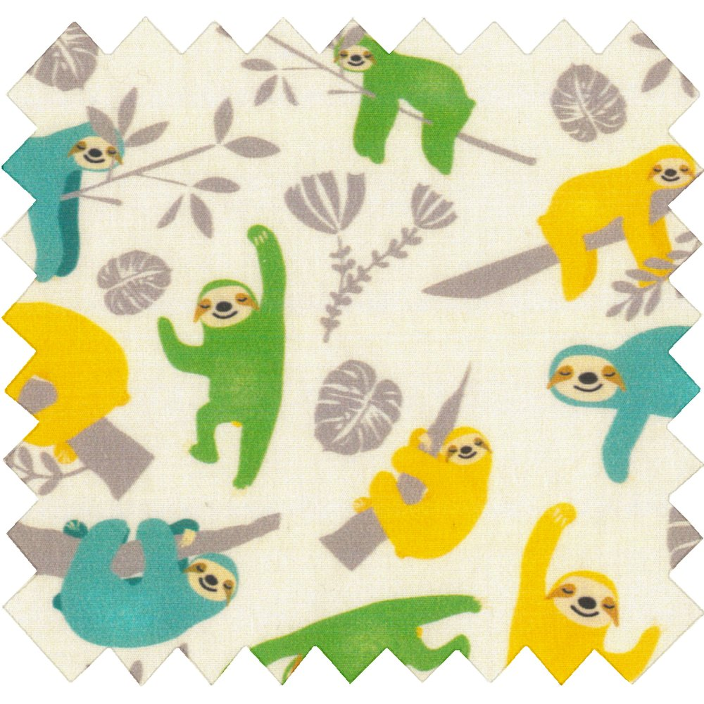Cotton fabric sloth