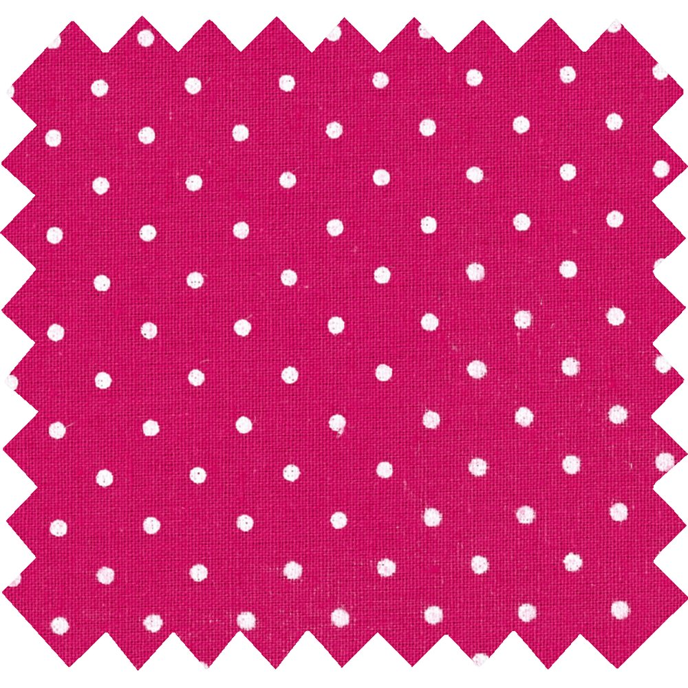 Cotton fabric fuschia spots