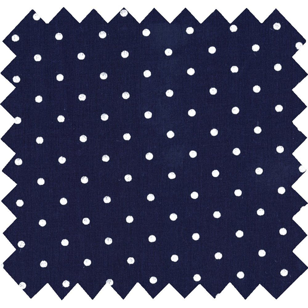 Cotton fabric navy blue spots