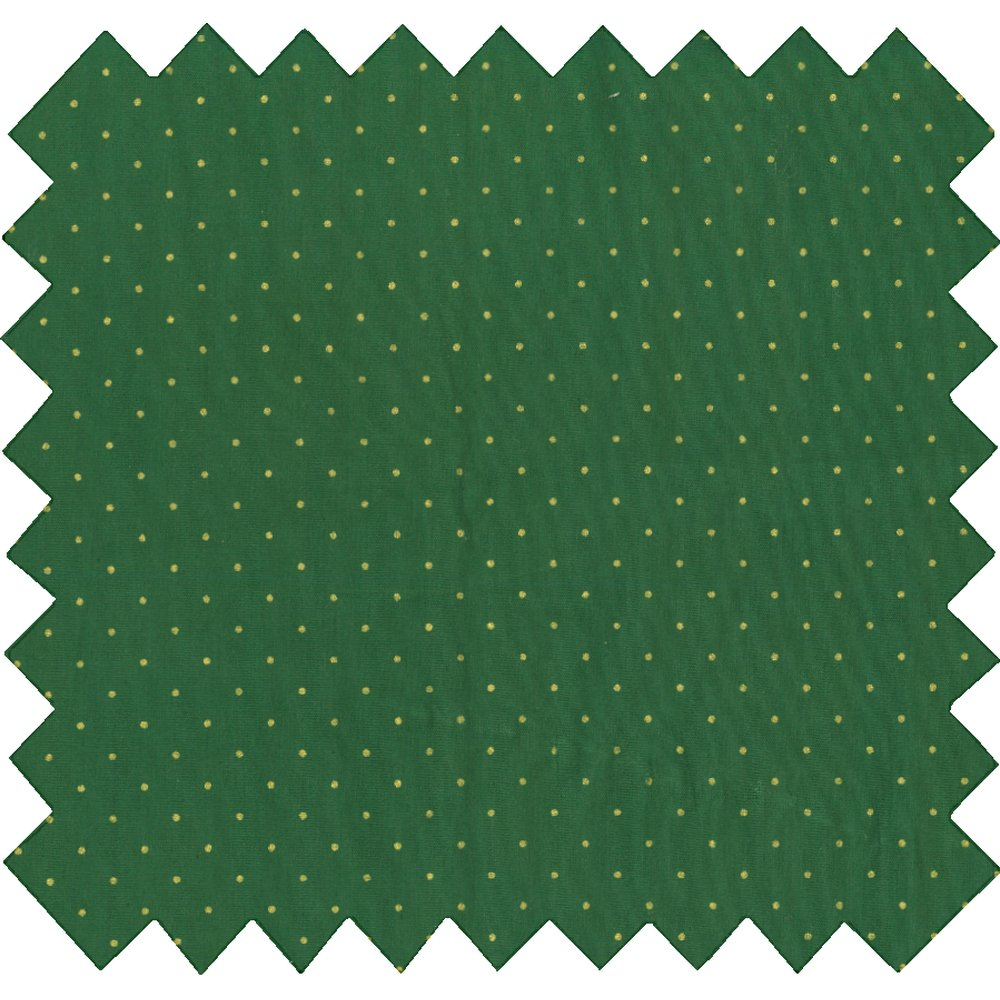 Cotton fabric pois or vert