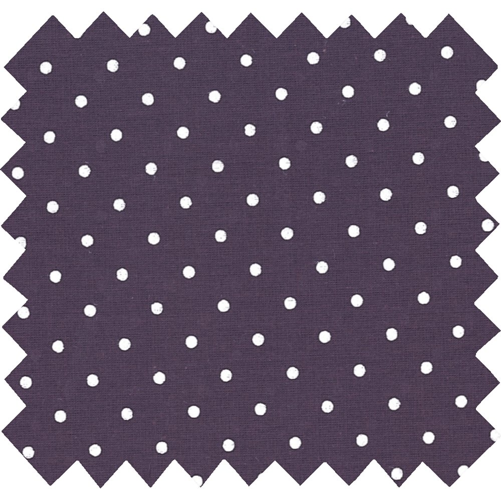 Cotton fabric plum spots
