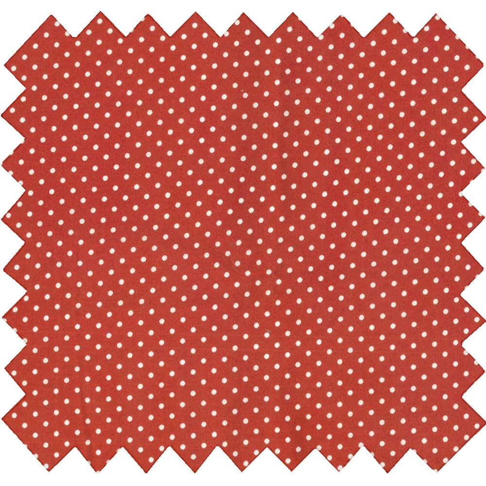 Tissu coton pois terracotta