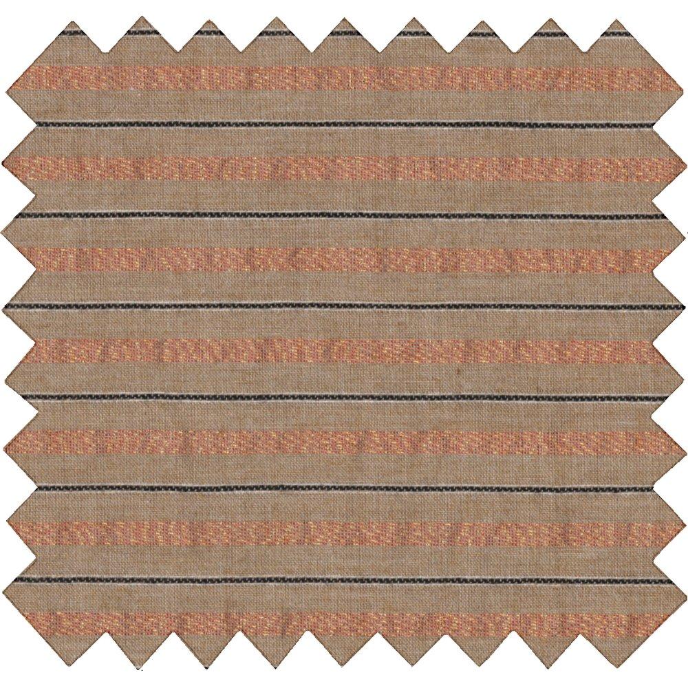 Tela  algodón rayado broncea cobrizo