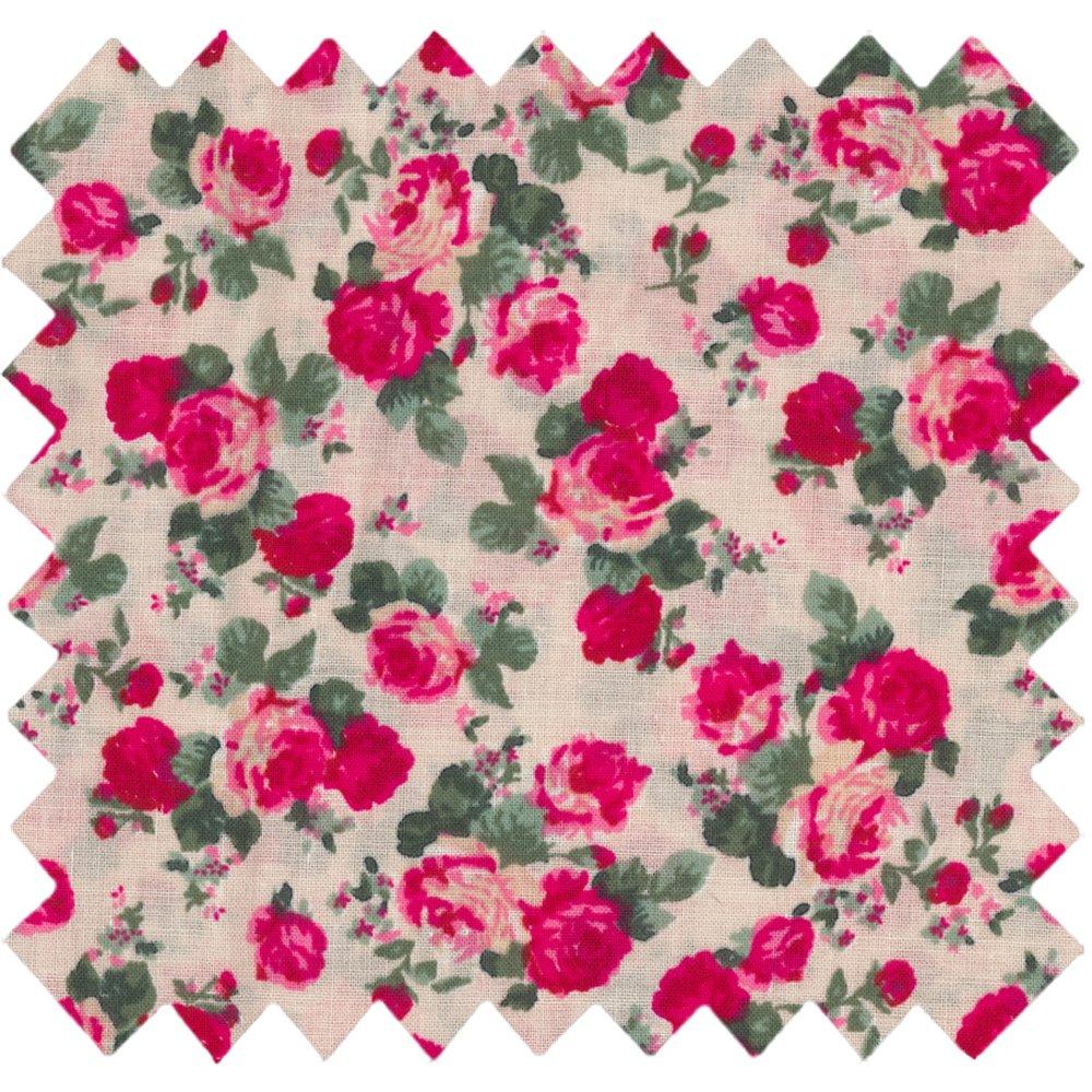 Tissu coton rose blush