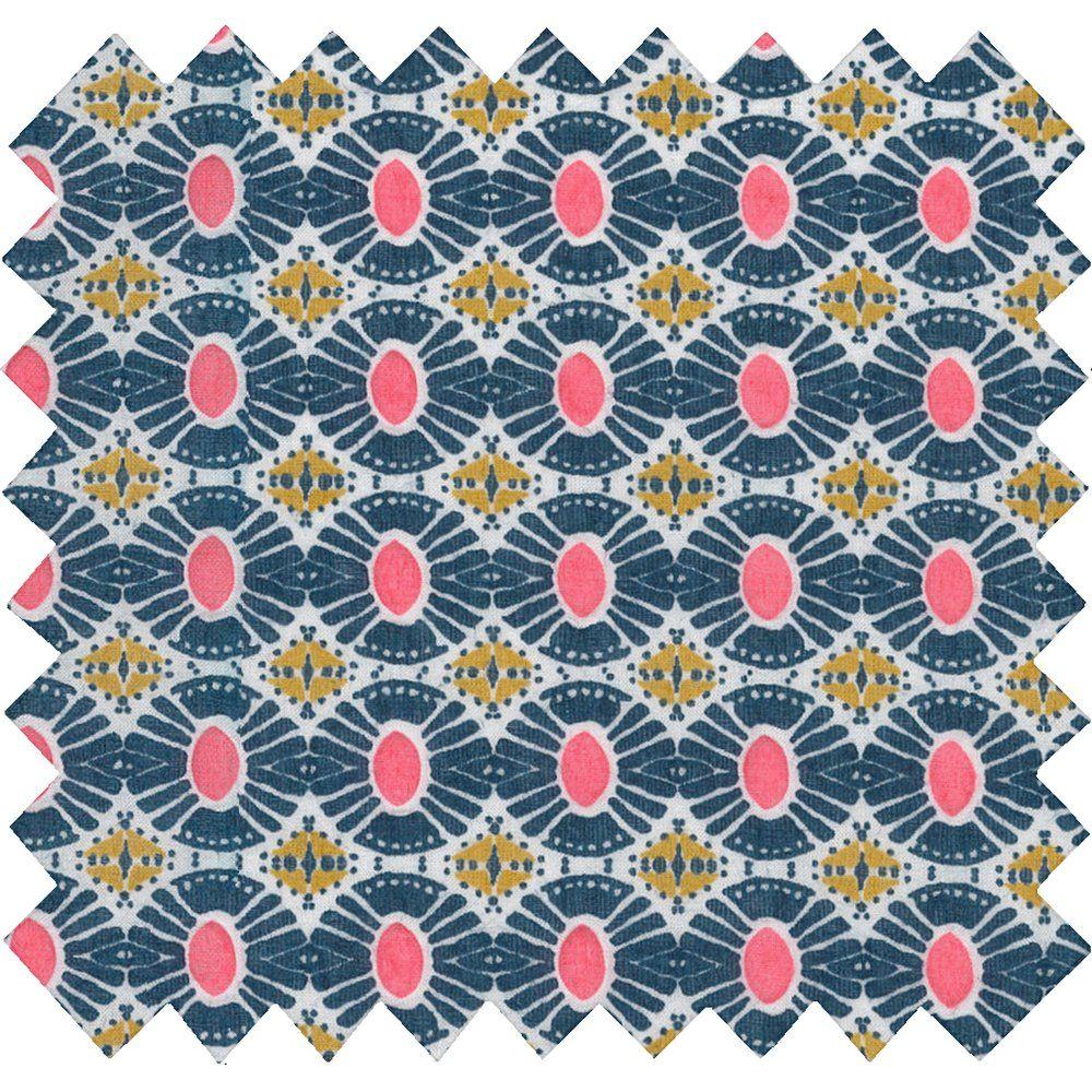 Tissu coton soleil ethnique