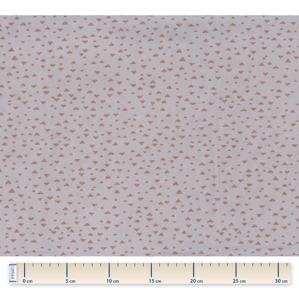 Tissu coton triangle cuivré gris