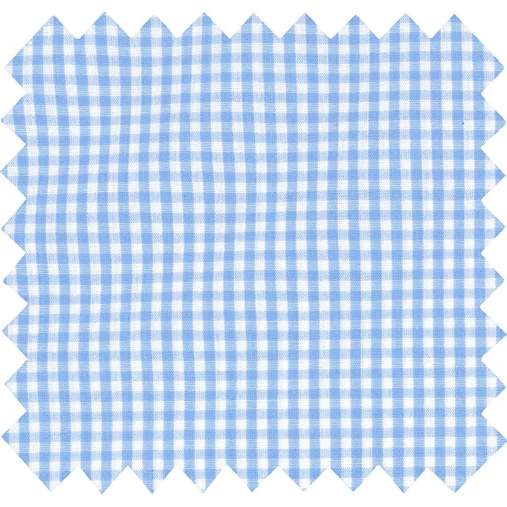 Cotton fabric sky blue gingham
