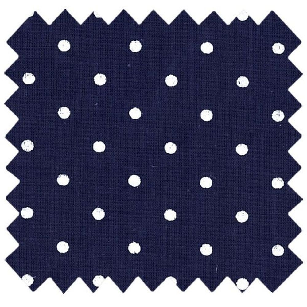 Coated fabric navy blue spots