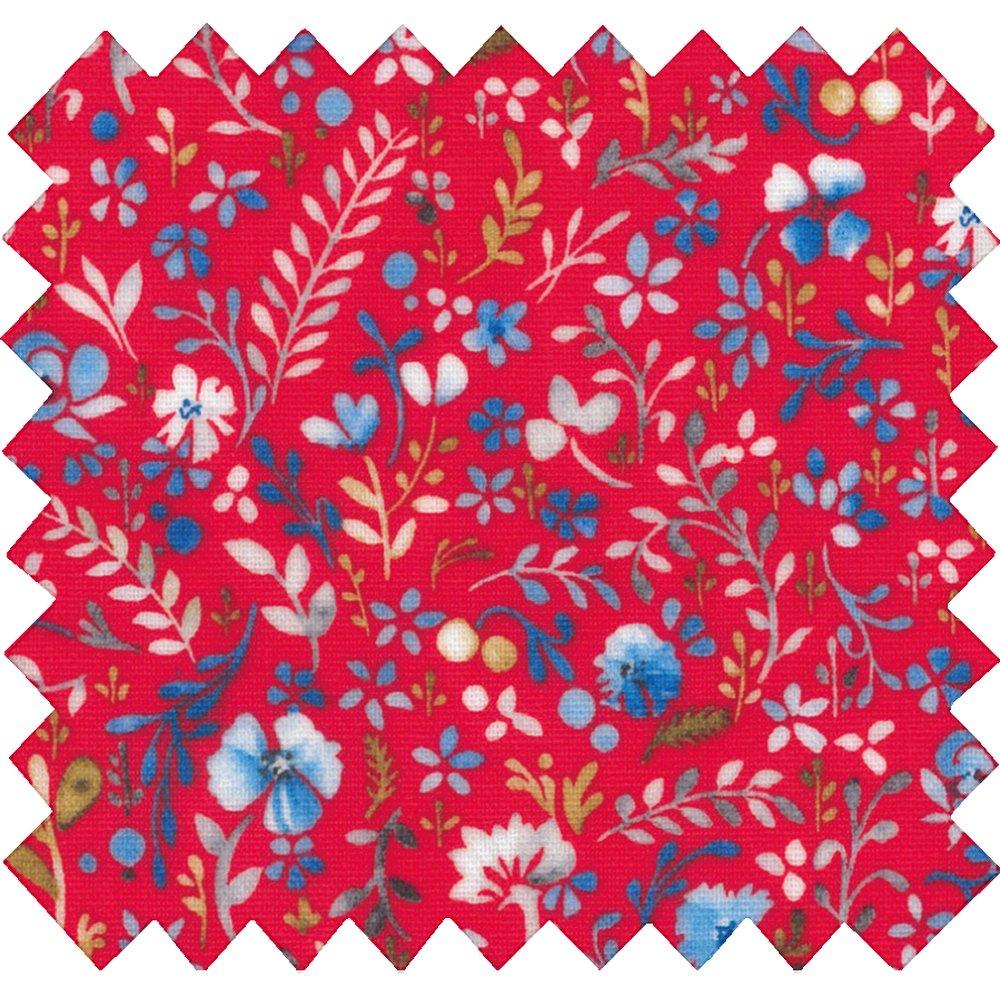 Tissu enduit bleuets cherry