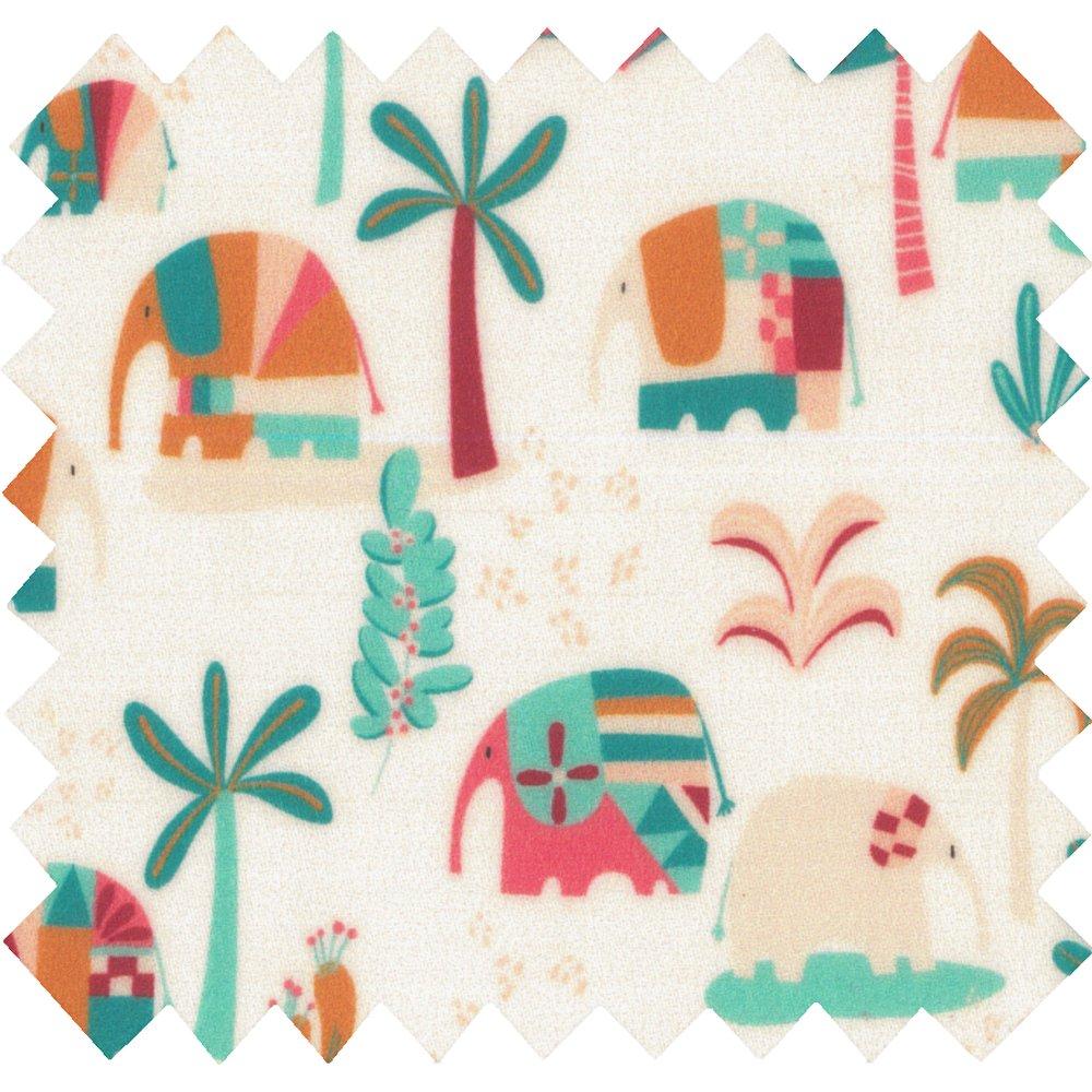 Tissu enduit carnaval d'eléphants