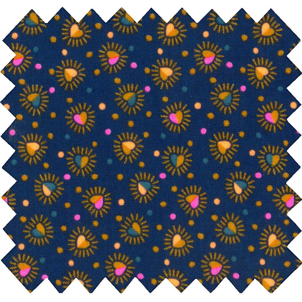 Coated fabric glittering heart