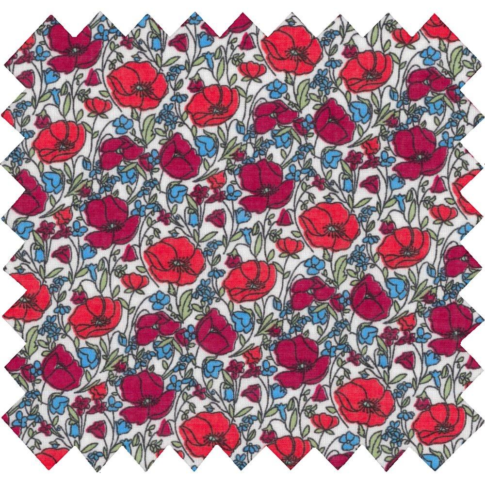 Coated fabric poppy