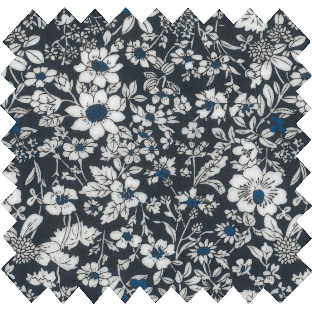 Coated fabric violette pervenche marine ex1039