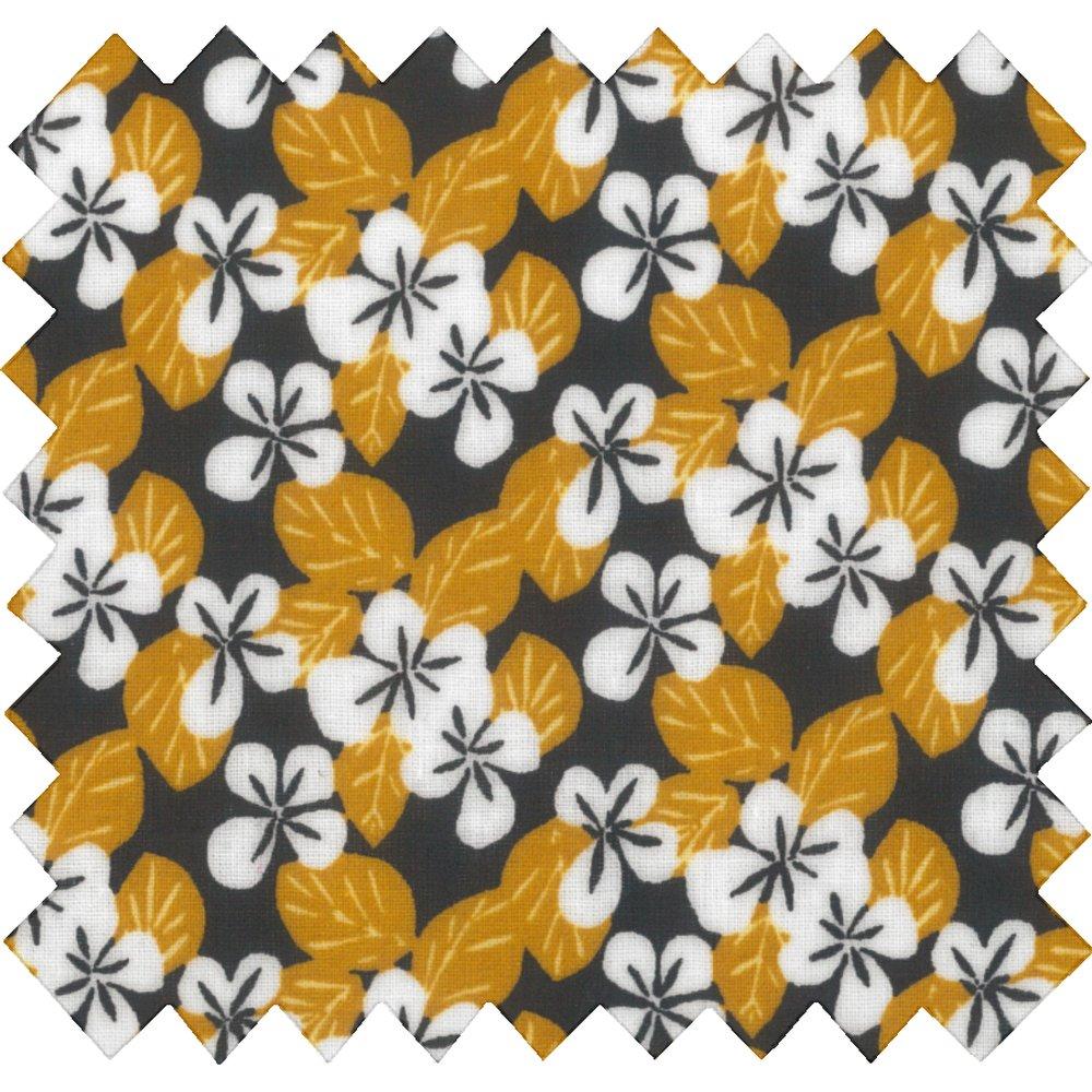 Tela plastificada fleurs moutarde ex1055