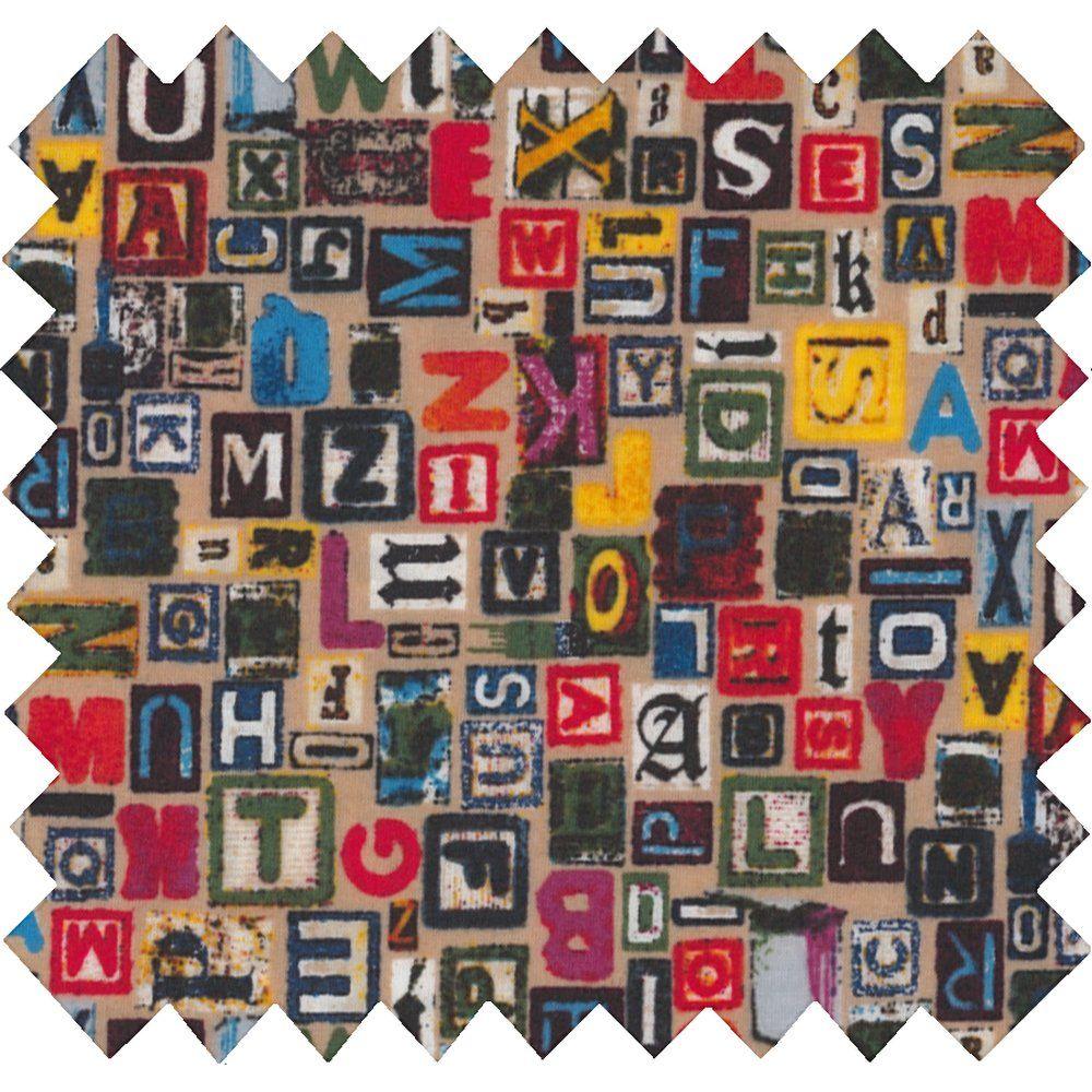 Tissu enduit lettres multi