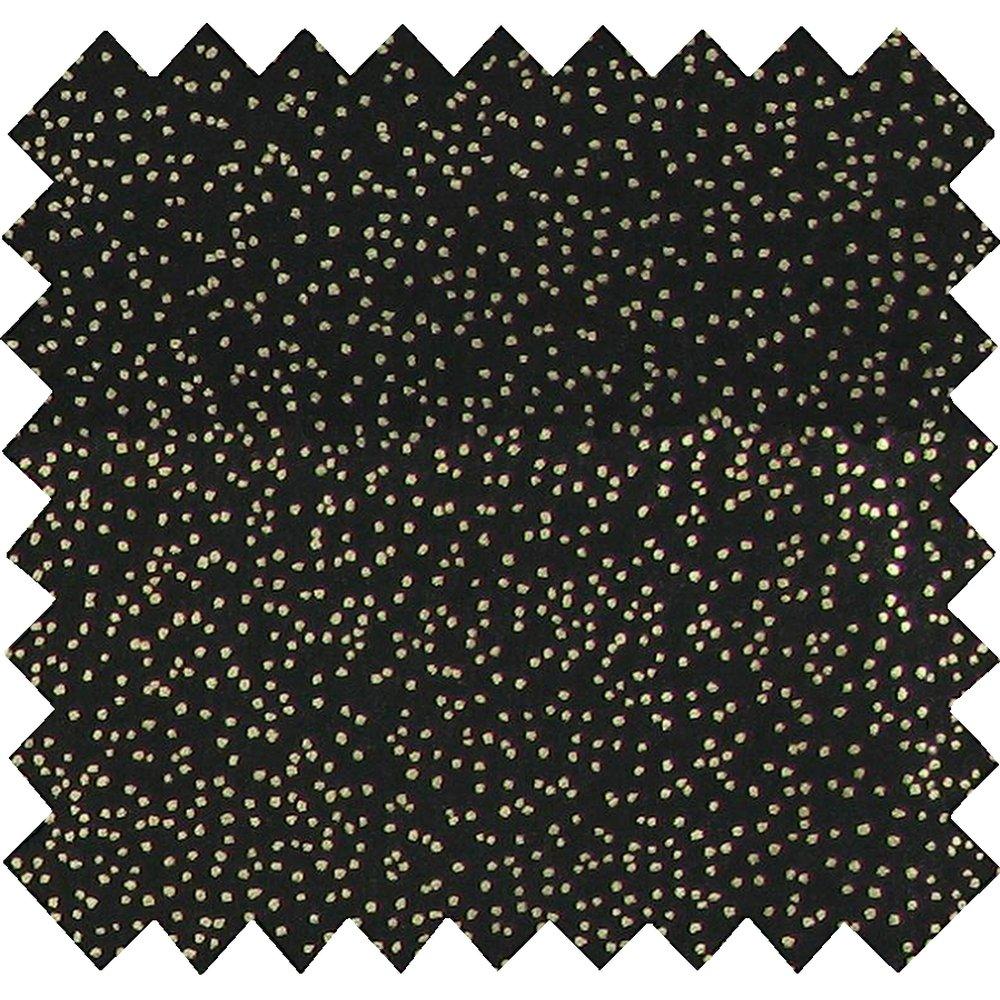 Coated fabric glitter black