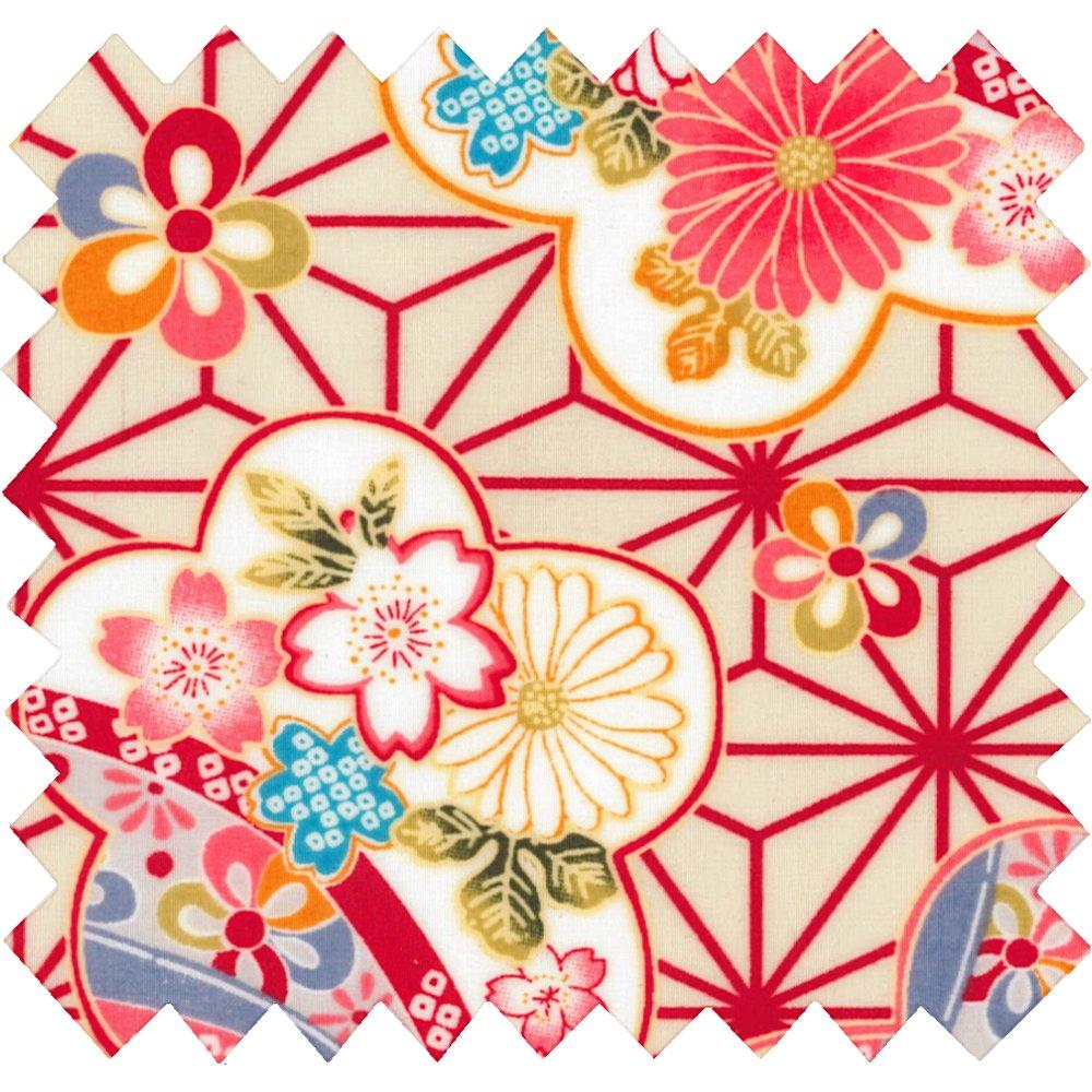Tissu enduit  origamis fleuris