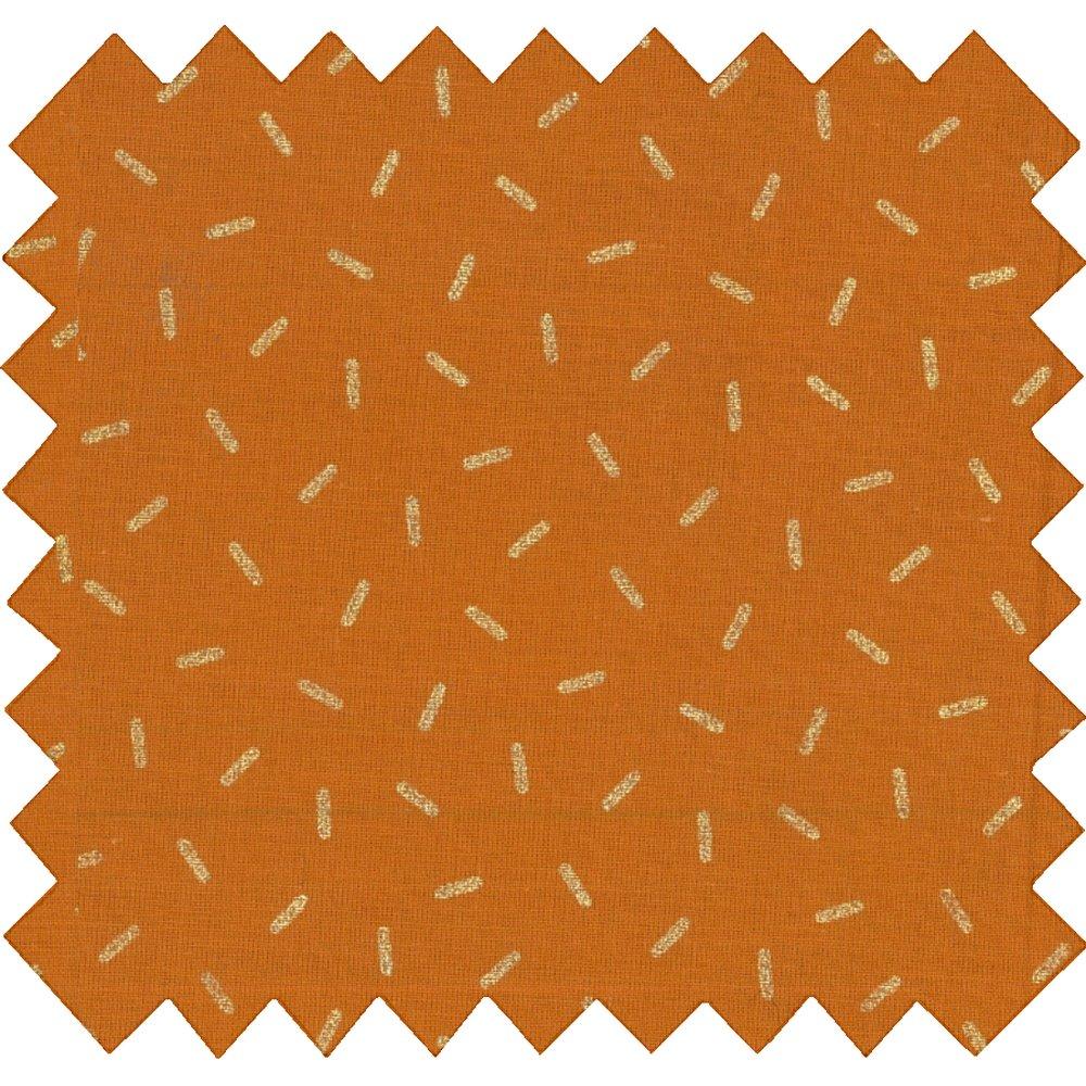 Tissu enduit paille dorée caramel