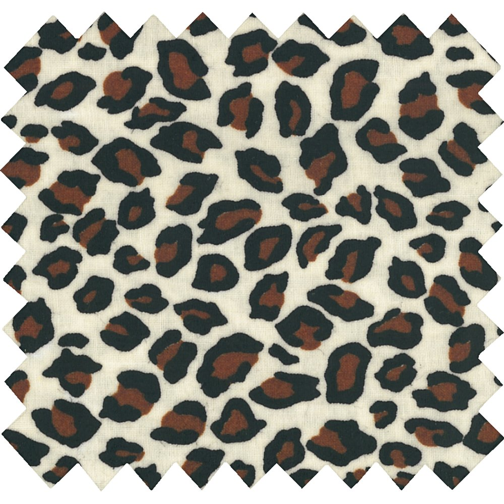 Coated fabric leopard print
