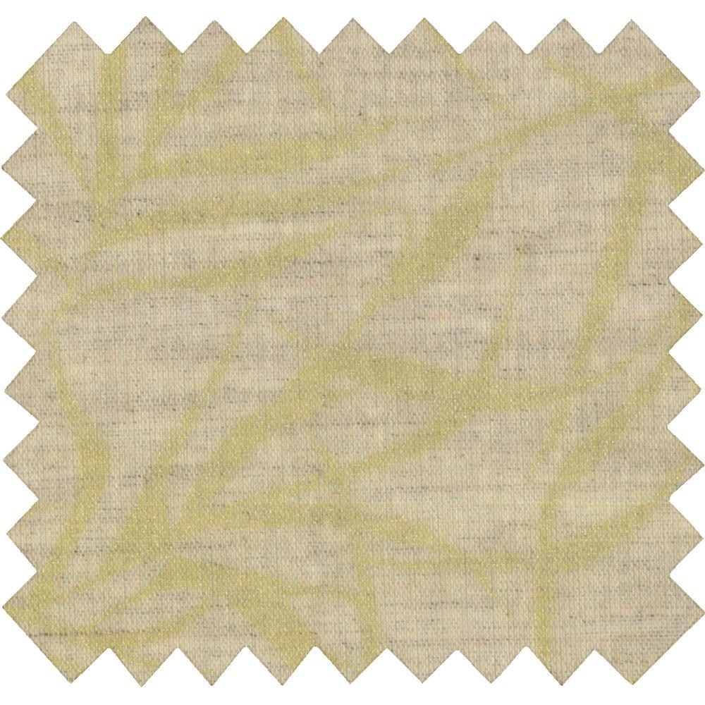 Tissu enduit  au mètre ramage or