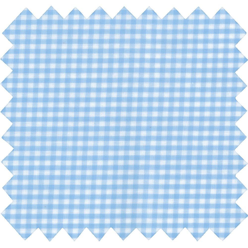 Coated fabric sky blue gingham
