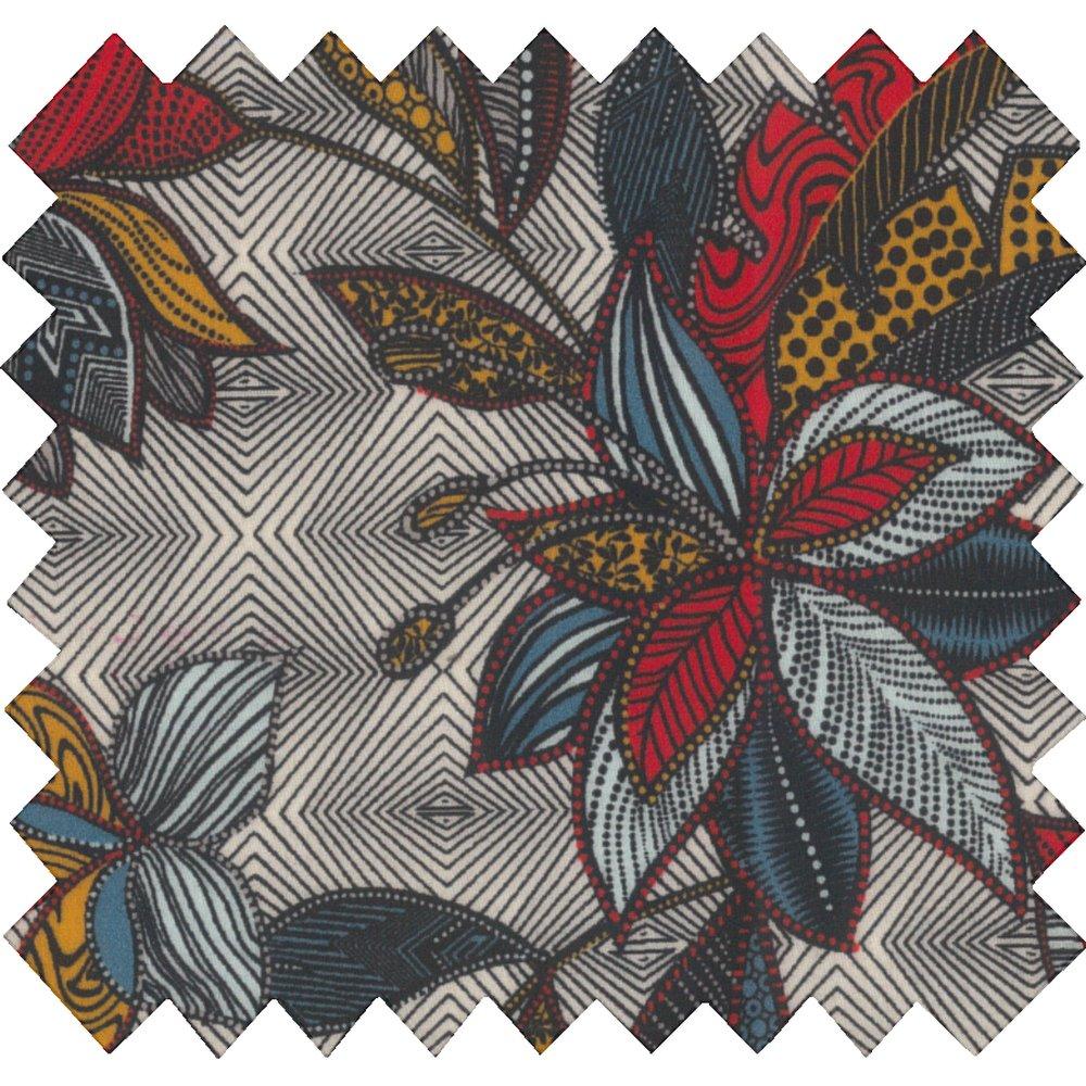 Coated fabric wax fleuri