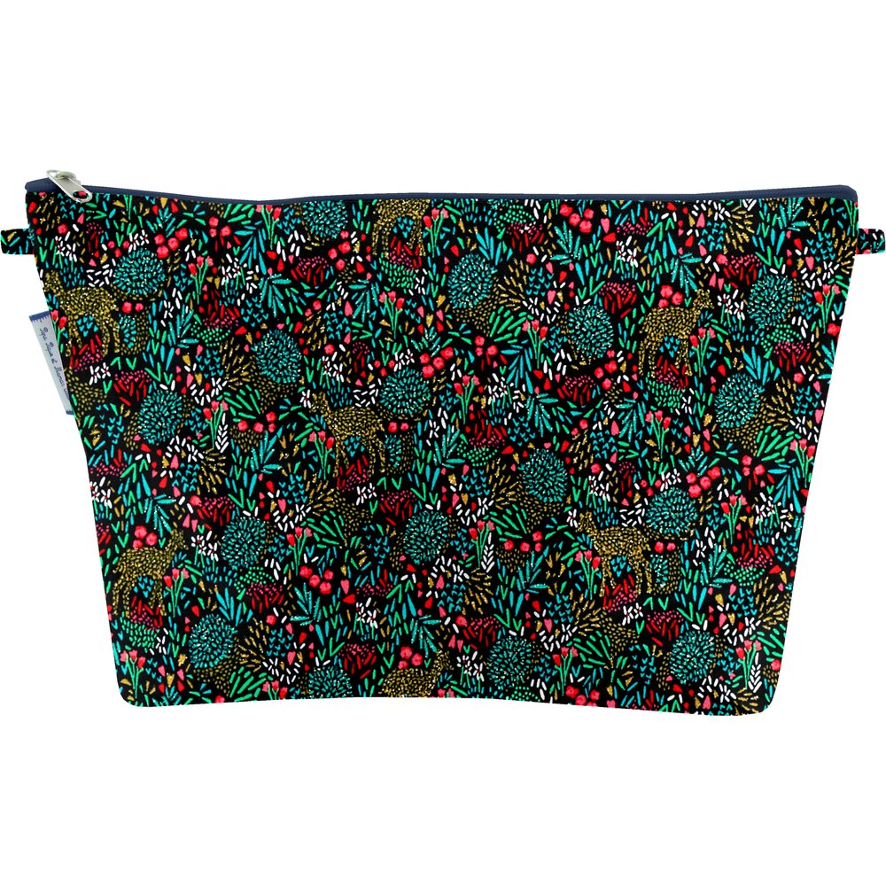 Cosmetic bag with flap deer