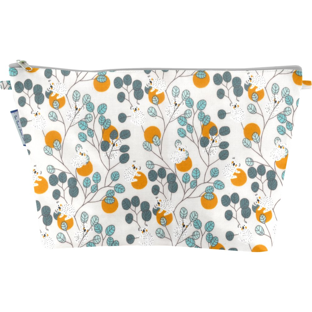 Cosmetic bag with flap koala
