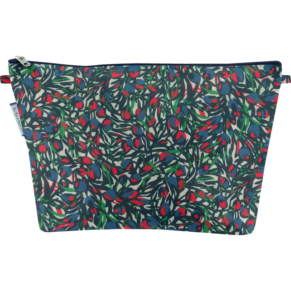 Cosmetic bag with flap  tulipes