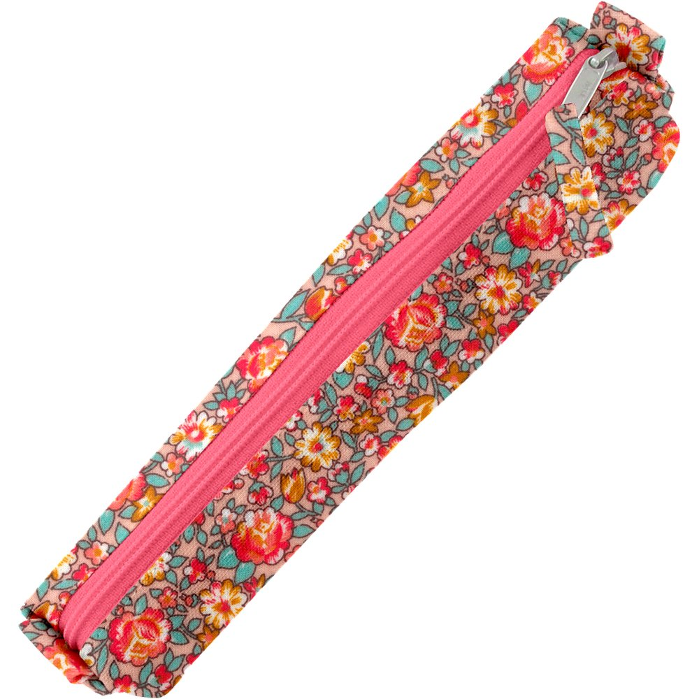 Mini pencil case peach flower