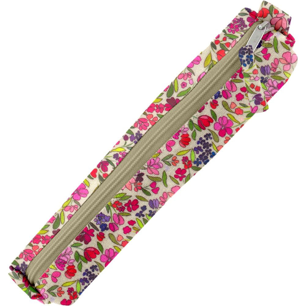 Mini pencil case purple meadow