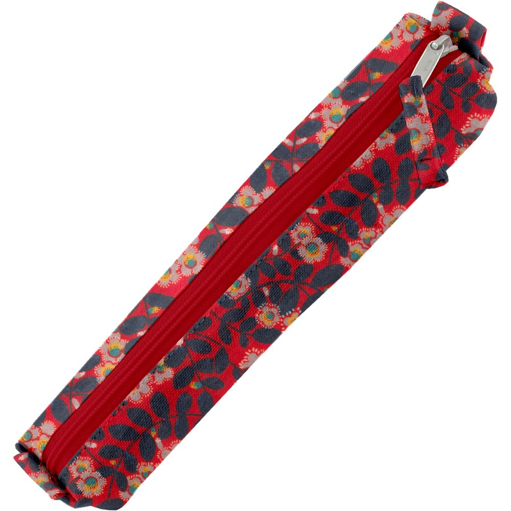 Mini pencil case vermilion foliage