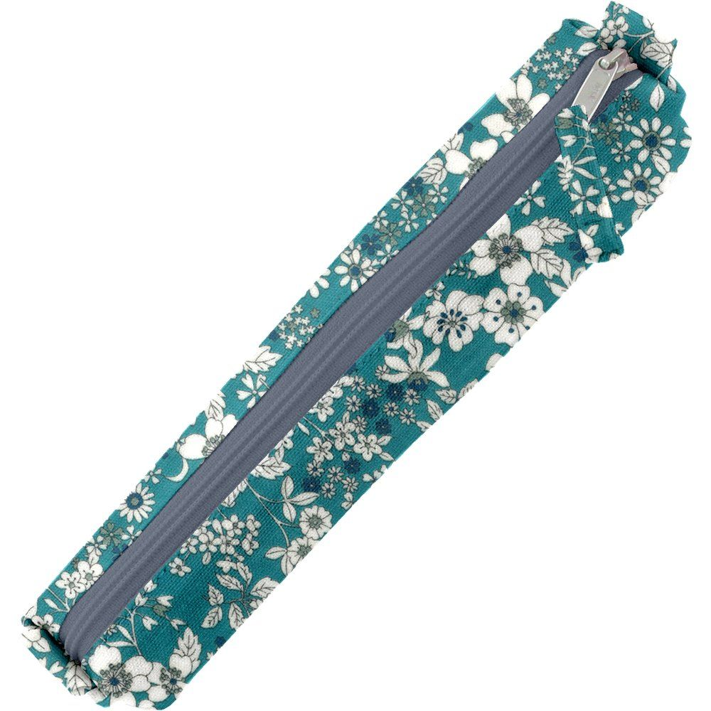 Mini pencil case celadon violette