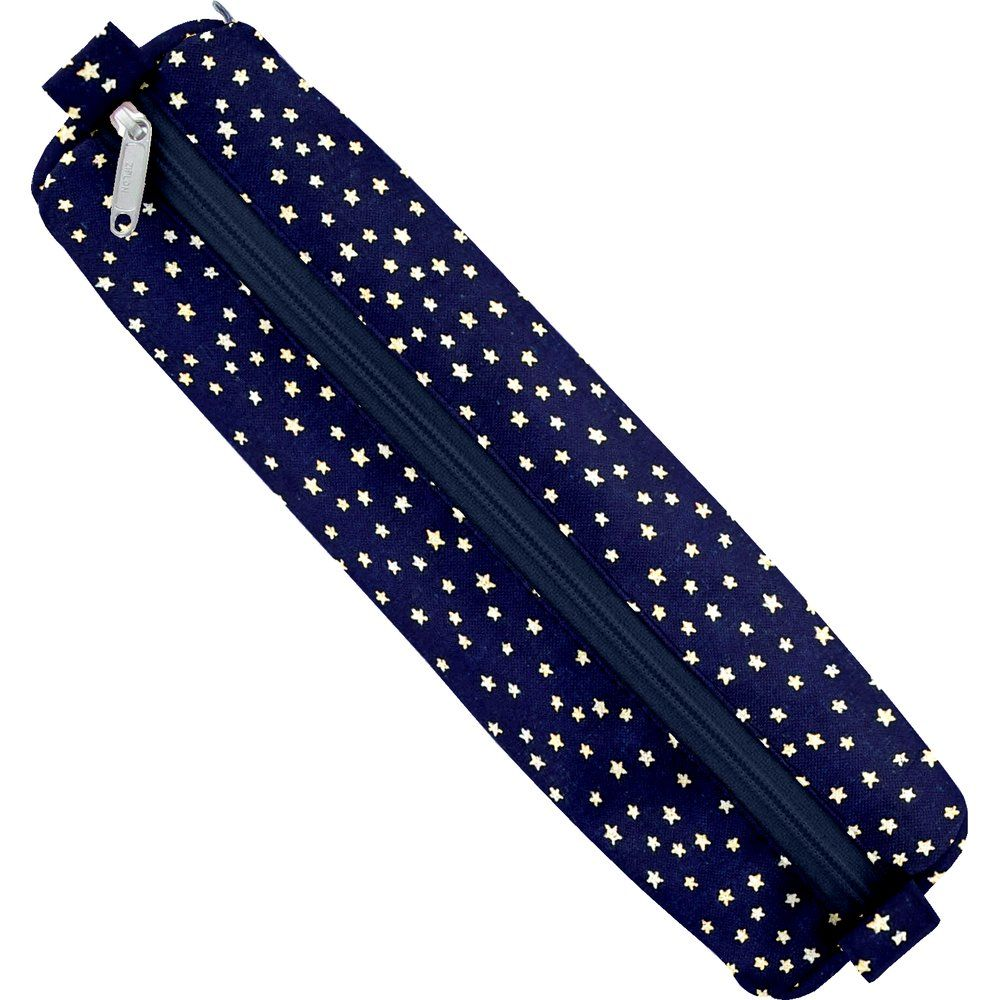 Round pencil case etoile or marine