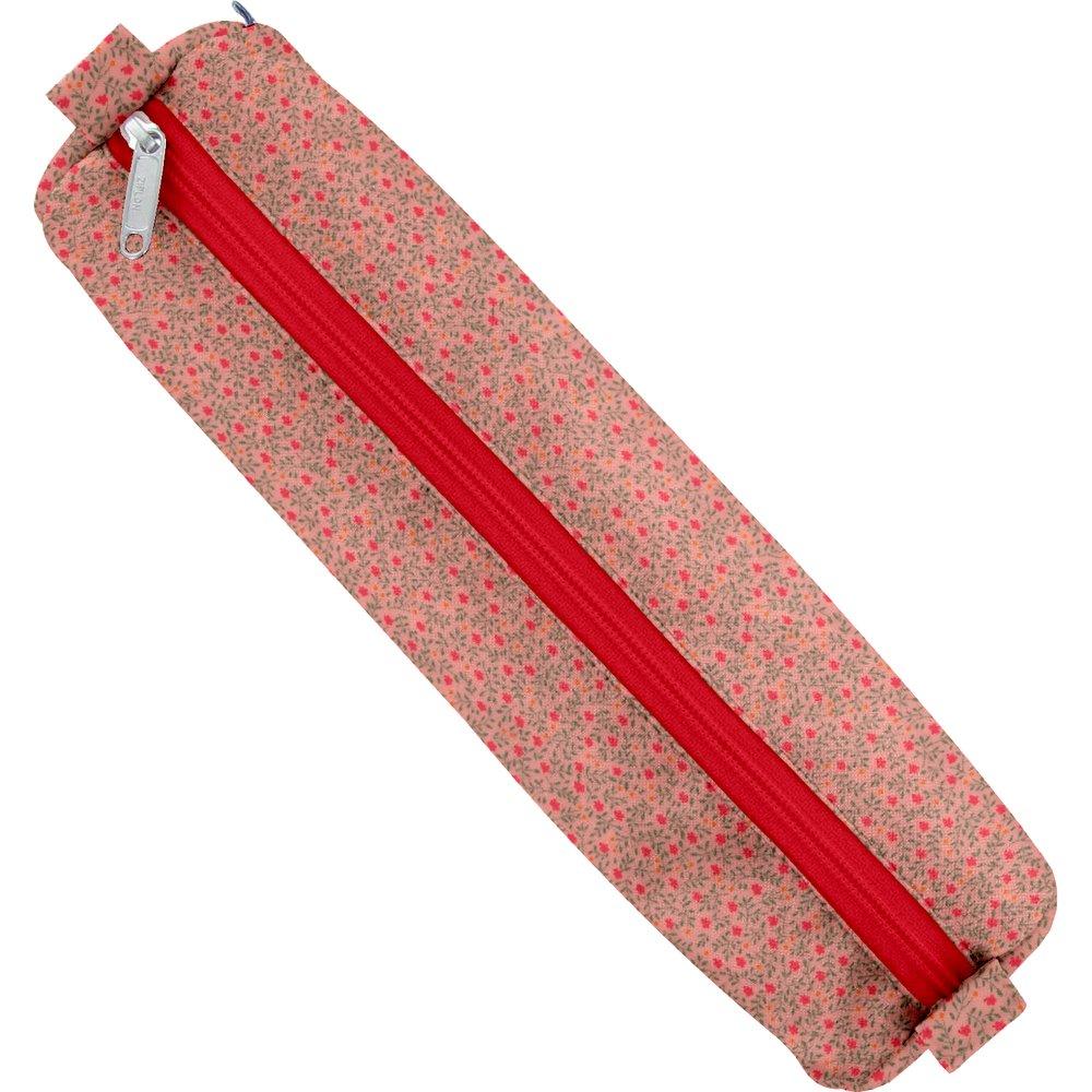 Cartuchera tubo mini flor rosa