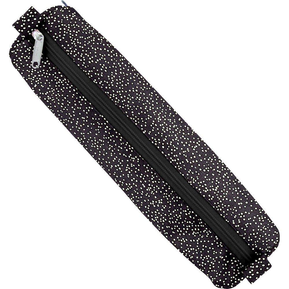 Cartuchera tubo noir pailleté