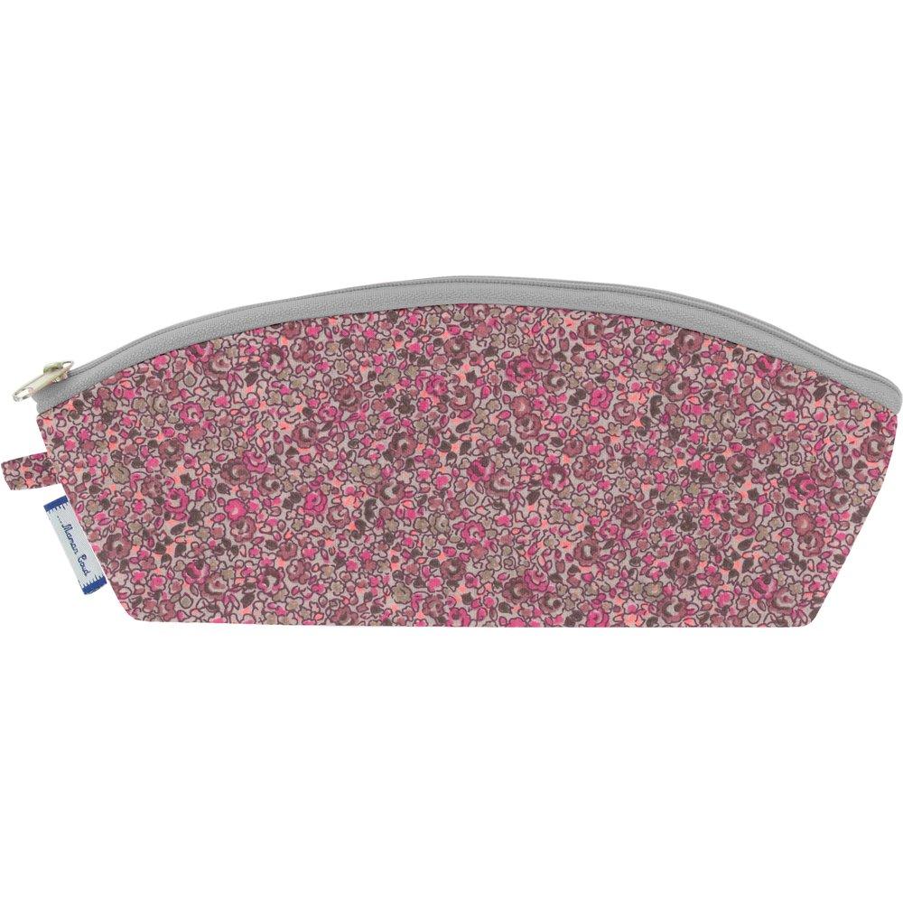 Trousse scolaire lichen prune rose